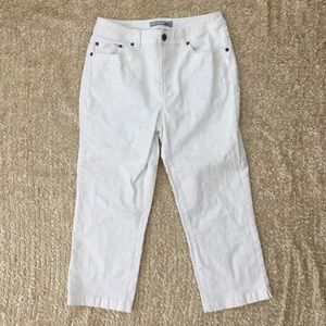 Chico's Platinum Size 1 (8) White Cropped Pants